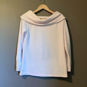 Talbots lounge pale pink sweater